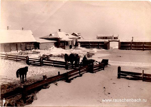Das Bauerngut Rauschenbach im Winter