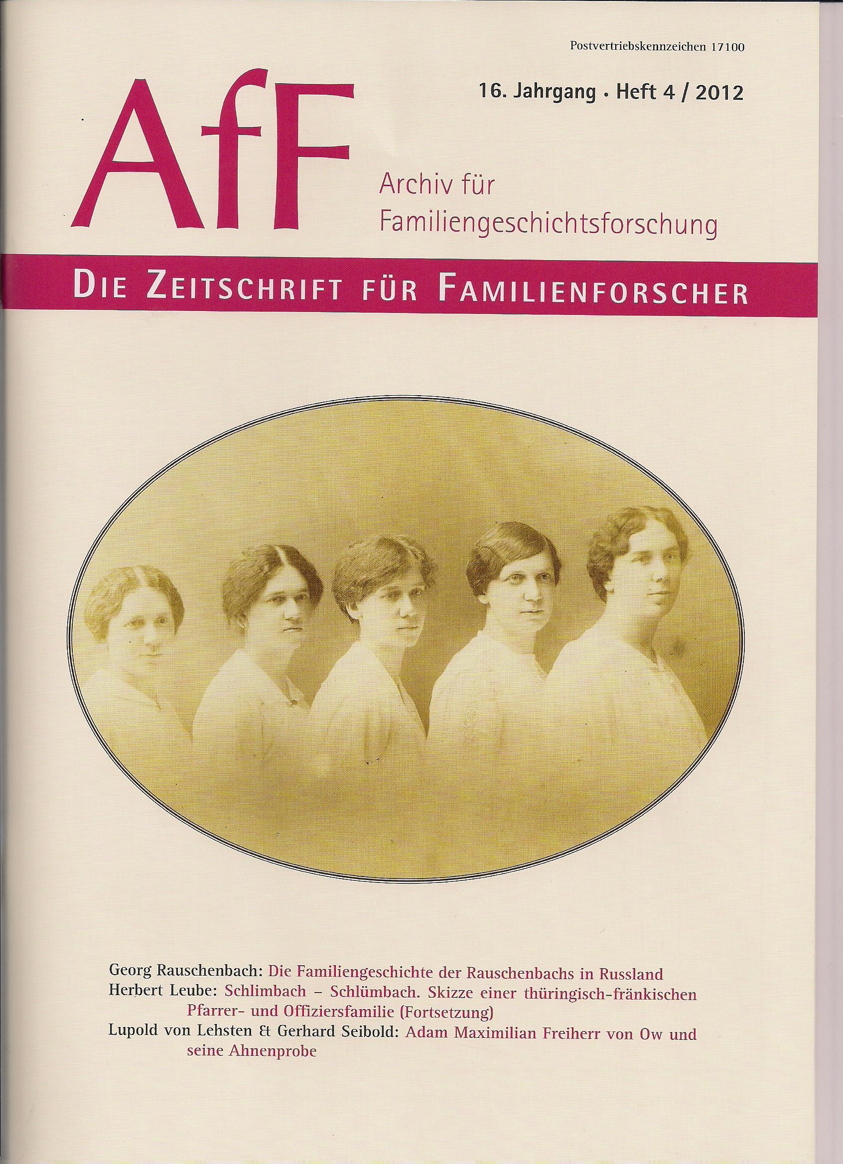 Die Familiengeschichte der Rauschenbachs